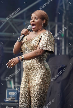 Marcia Hines performs during Kennedy Oaks Day at Flemington Racecourse in Melbourne, Victoria, Australia, 07 November 2019. The Kennedy Oaks Day, also known as the Ladies' Day, is part of the Melbourne Cup Carnival calendar.