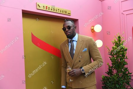 Jamaican former sprinter Usain Bolt at the Mumm marquee during Kennedy Oaks Day at Flemington Racecourse in Melbourne, Victoria, Australia, 07 November 2019. The Kennedy Oaks Day, also known as the Ladies' Day, is part of the Melbourne Cup Carnival calendar.