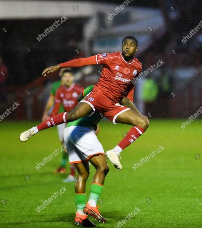 Bez Lubala of Crawley during the Emirates FA Cup first round match between Crawley Town and Scunthorpe United at the Peoples Pension Stadium , Crawley , 09 November 2019
