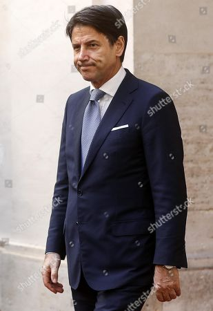 Italian Prime Minister Giuseppe Conte looks on as he waits for the arrival of President of Turkmenistan Gurbanguly Berdimuhamedow (not pictured) at Palazzo Chigi, in Rome, Italy, 07 November 2019. Berdimuhamedow is in Rome on an official visit to boost economic and bilateral ties between the two countries.