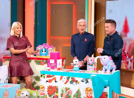 Holly Willoughby and Phillip Schofield with Steve Wilson