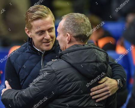 9th November 2019, Hillsborough, Sheffield, England; Sky Bet Championship, Sheffield Wednesday v Swansea City : Gary Monk Manager of Sheffield Wednesday and Steve Cooper Manager of Swansea City 