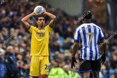 9th November 2019, Hillsborough, Sheffield, England; Sky Bet Championship, Sheffield Wednesday v Swansea City : Kyle Naughton (26) of Swansea City takes a throw in Credit: Dean Williams/News Images