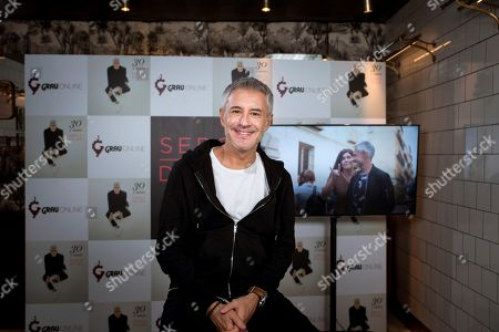 Stock Image of Sergio Dalma poses during an interview on occasion of the release of his new album '30...y tanto' (lit. 30...something) in Madrid, Spain, 07 November 2019. Sergio Dalma launches this new album to celebrate his 30 year music career.