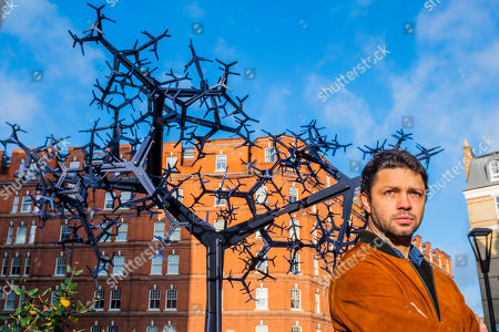Bicameral, a new public sculpture by Royal Academician, Conrad Shawcross (pictured) at Chelsea Barracks.
