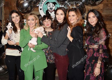 Victoria Justice, Hilary Duff, Sasha Abelson, Whitney Cummings, Maria Menounos, Olivia Munn