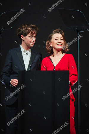 Stock Image of Alex Lawther, Lesley Manville