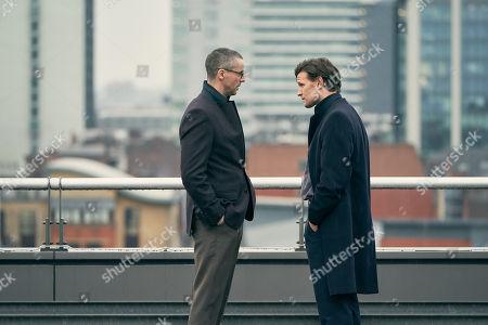 Matthew Goode as Peter Beaumont and Matt Smith as Martin Bright