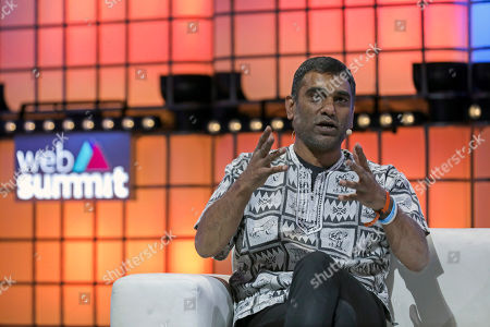 Kumi Naidoo Secretary-General of Amnesty International (AI) speaks in the 2019 Web Summit at Atlantic Pavilion in Lisbon, Portugal, 07 November 2019. The 2019 Web Summit, considered the largest event of startups and technological entrepreneur ship in the world, takes place from 04 to 07 November.