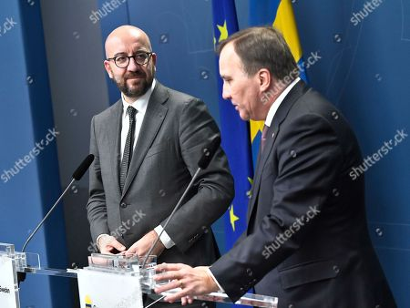 Editorial photo of President-elect of the European Council Charles Michel in Stockholm, Sweden - 07 Nov 2019