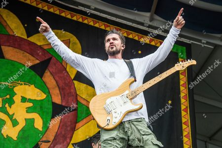 Juanes, Juan Esteban Aristizabal Vasquez. Juanes performs at the New Orleans Jazz and Heritage Festival in New Orleans. Stars like Alessia Cara, Juan Luis Guerra, Mon Laferte, Ozuna, Rosalía, Alejandro Sanz and Sebastián Yatra are among those who will be paying tribute to the Colombian rocker when he is recognized as Person of the Year on the eve of the Latin Grammys in Las Vegas, the Latin Recording Academy announced