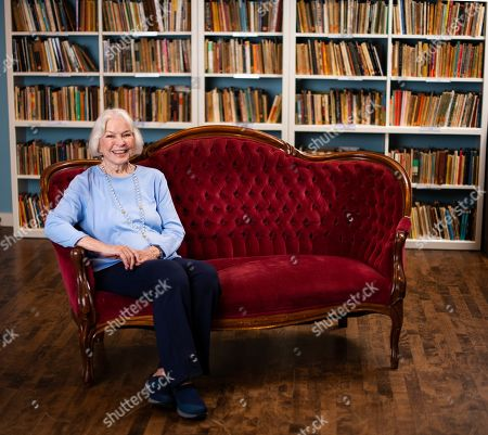 Stock Picture of Ellen Burstyn poses for a portrait in the Paul Newman Library of the Actors Studio, in New York