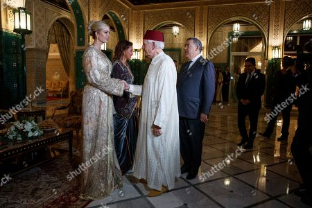 Ivanka Trump, Lalla Meryem, Andre Azoulay. Ivanka Trump, the daughter and senior adviser to President Donald Trump, left, shakes hands with Andre Azoulay, Senior adviser to Morocco's King Mohammed VI, as Trump and Princess Lalla Meryem of Morocco, greet guests, before a dinner at the Royal Guest House in Rabat, Morocco
