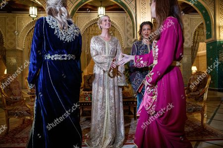 Ivanka Trump, Lalla Meryem. Wearing Moroccan caftans, Ivanka Trump, the daughter and senior adviser to President Donald Trump, center, greets guests with Princess Lalla Meryem of Morocco, right, for a dinner at the Royal Guest House in Rabat, Morocco