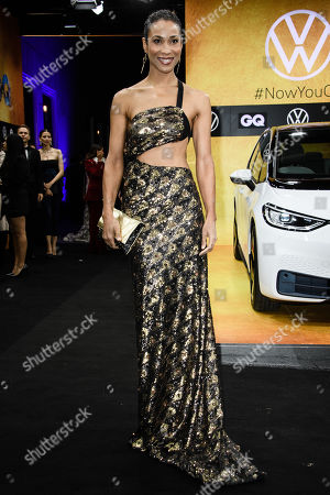 German actress Annabelle Mandeng arrives for the GQ Men of the Year 2019 awards show in Berlin, Germany, 07 November 2019. The international monthly men's magazine GQ presents the award to personalities from the show and music businesses as well as society, sport, politics, culture and fashion.