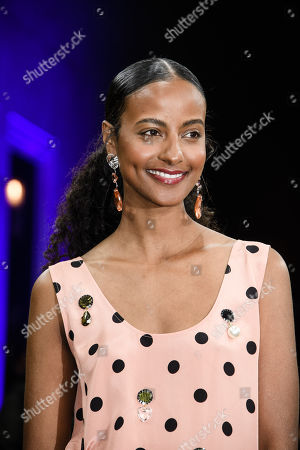 German model Sara Nuru arrives for the GQ Men of the Year 2019 awards show in Berlin, Germany, 07 November 2019. The international monthly men's magazine GQ presents the award to personalities from the show and music businesses as well as society, sport, politics, culture and fashion.