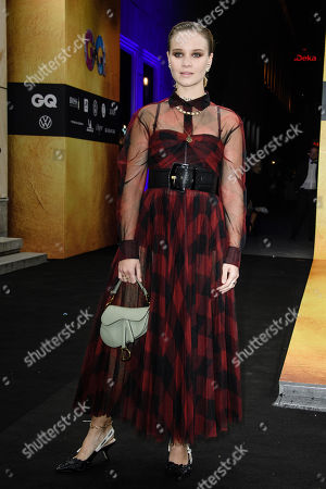 German actress Sonja Gerhardt arrives for the GQ Men of the Year 2019 awards show in Berlin, Germany, 07 November 2019. The international monthly men's magazine GQ presents the award to personalities from the show and music businesses as well as society, sport, politics, culture and fashion.