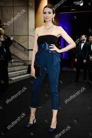 German model Eva Padberg arrives for the GQ Men of the Year 2019 awards show in Berlin, Germany, 07 November 2019. The international monthly men's magazine GQ presents the award to personalities from the show and music businesses as well as society, sport, politics, culture and fashion.