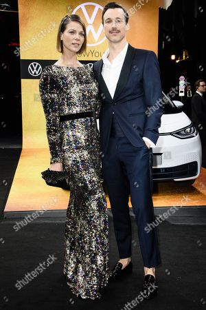 Stock Image of German actors Jessica Schwarz (L) and Florian David Fitz arrive for the GQ Men of the Year 2019 awards show in Berlin, Germany, 07 November 2019. The international monthly men's magazine GQ presents the award to personalities from the show and music businesses as well as society, sport, politics, culture and fashion.