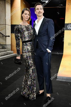 German actors Jessica Schwarz (L) and Florian David Fitz arrive for the GQ Men of the Year 2019 awards show in Berlin, Germany, 07 November 2019. The international monthly men's magazine GQ presents the award to personalities from the show and music businesses as well as society, sport, politics, culture and fashion.