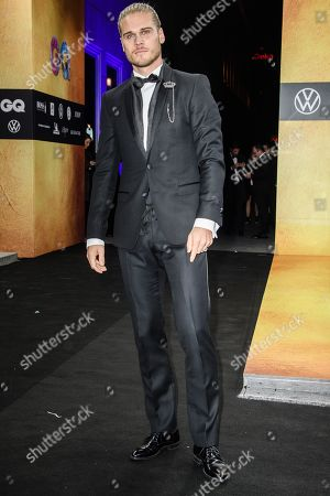 Iceland's soccer player Rurik Gislason arrives for the GQ Men of the Year 2019 awards show in Berlin, Germany, 07 November 2019. The international monthly men's magazine GQ presents the award to personalities from the show and music businesses as well as society, sport, politics, culture and fashion.