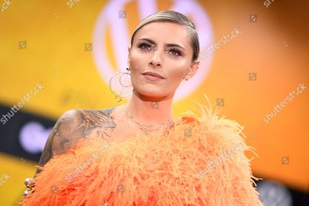 German model Sophia Thomalla arrives for the GQ Men of the Year 2019 awards show in Berlin, Germany, 07 November 2019. The international monthly men's magazine GQ presents the award to personalities from the show and music businesses as well as society, sport, politics, culture and fashion.