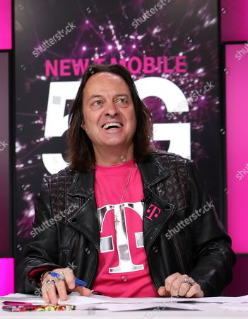 T-Mobile CEO John Legere announces the future New T-Mobile's first three Un-carrier moves, in New York. The proposed combination of T-Mobile and Sprint as New T-Mobile will create a transformational 5G network that will deliver accessibility and connectivity to millions across the U.S