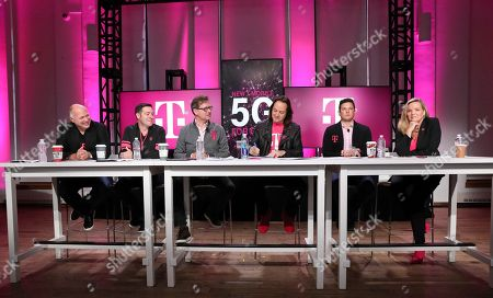 Jon Freier, Matt Staneff, Mike Sievert, John Legere, Mike Katz, Janice Kapner. T-Mobile executives Jon Freier, EVP, Consumer Markets; Matt Staneff, CMO; President Mike Sievert; CEO John Legere; Mike Katz, EVP, T-Mobile for Business; and Janice Kapner, EVP of Communications and Community Engagement, share details of future New T-Mobile's first three Un-carrier Moves, in New York. The Un-carrier unveiled three new initiatives for the proposed combination of T-Mobile and Sprint, New T-Mobile, including T-Mobile Connect, a ground-breaking, low price prepaid option for lower-income consumers