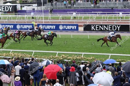 Stock Image of , Melbourne, Miami Bound with Damien Oliver up wins the Kennedy Oaks at Flemington racecourse, AUS.