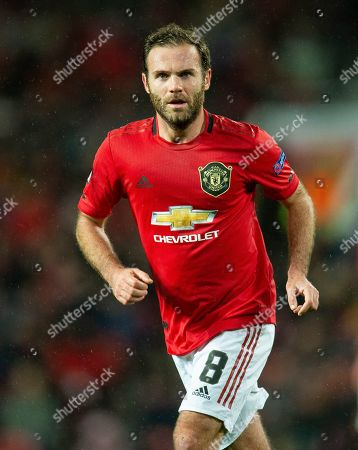 Manchester United's Juan Mata in action during the UEFA Europa League group L soccer match between Manchester United and FK Partizan held at Old Trafford in Manchester, Britain, 07 November 2019.