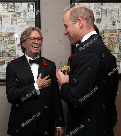 Stock Image of Prince William and Eric Clapton attend the London's Air Ambulance Charity gala