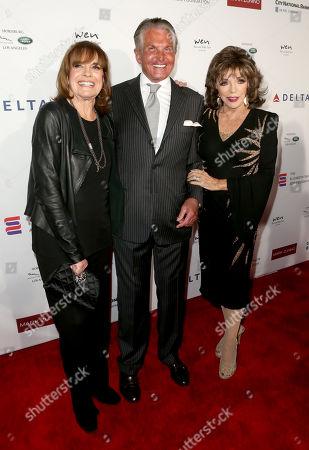 Linda Gray, George Hamilton and Joan Collins