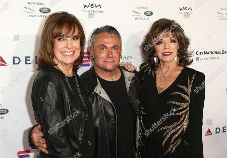 Linda Gray, Mark Zunino and Joan Collins