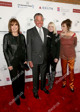 Linda Gray, George Hamilton, Kelly Day and Michele Lee