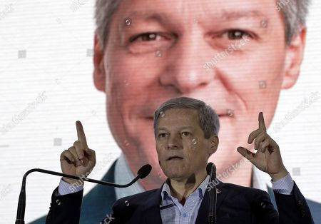 Dacian Ciolos, former Romanian Prime Minister and EU Commissioner for Agriculture, the leader of the Freedom, Unity and Solidarity Party (PLUS), addresses to supporters during a USR-PLUS alliance rally held in Bucharest, Romania, 07 November 2019. Dan Barna of USR is running for a presidential mandate on behalf of USR-PLUS alliance in the presidential race that will be held in November 2019, and if he wins, Ciolos will be nominated as Prime Minister. In May 2019, Ciolos was elected a Member of the European Parliament, and after he was chosen as the leader of the new Renew Europe political group.