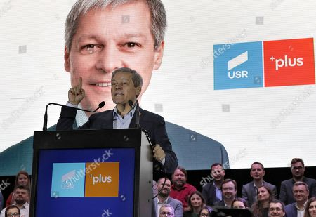 Dacian Ciolos, former Romania's Prime Minister and EU Commissioner for Agriculture, the leader of the Freedom, Unity and Solidarity Party (PLUS), addresses to supporters during a USR-PLUS alliance rally held in Bucharest, Romania, 07 November 2019. Dan Barna of USR is running for a presidential mandate on behalf of USR-PLUS alliance in the presidential race that will be held in November 2019, and if he wins, Ciolos will be nominated as Prime Minister. In May 2019, Ciolos was elected a Member of the European Parliament, and after he was chosen as the leader of the new Renew Europe political group.