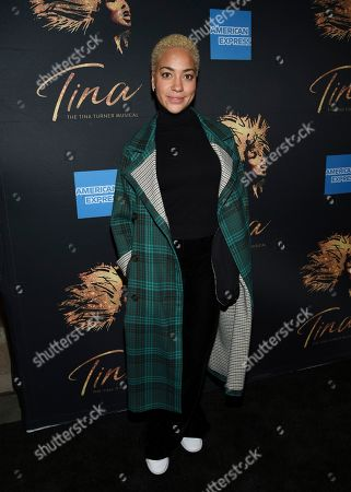 "Cush Jumbo attends ""Tina - The Tina Turner Musical"" Broadway opening night at the Lunt-Fontanne Theatre, in New York"
