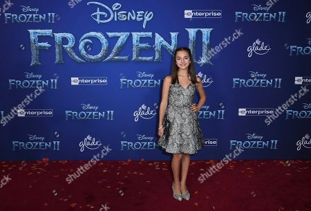 """Mattea Conforti arrives at the world premiere of """"Frozen 2"""" at the Dolby Theatre, in Los Angeles"""
