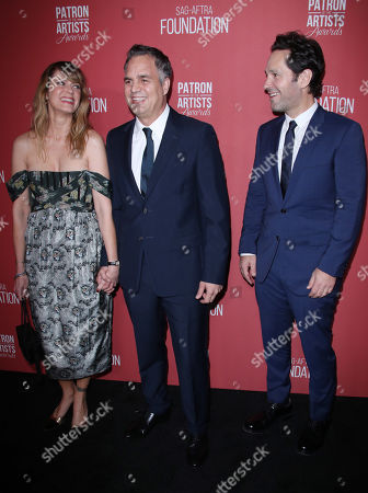 Mark Ruffalo and wife Sunrise Coigney with Paul Rudd