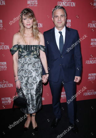 Stock Picture of Mark Ruffalo and wife Sunrise Coigney