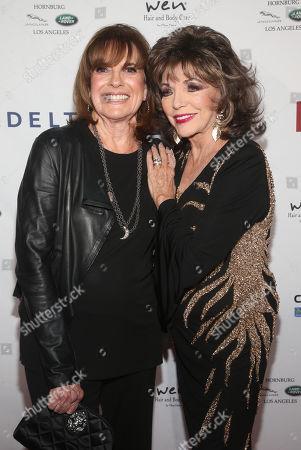 Linda Gray and Joan Collins