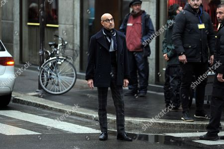 Editorial picture of Stanley Tucci out and about, Milan, Italy - 07 Nov 2019