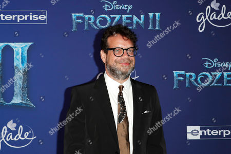 Canadian film score composer Christophe Beck poses on the red carpet prior to the world premiere of the movie 'Frozen II' at the Dolby Theatre in Hollywood, Los Angeles, California, USA, 07 November 2019. The movie is to be released in US theaters on 22 November 2019.