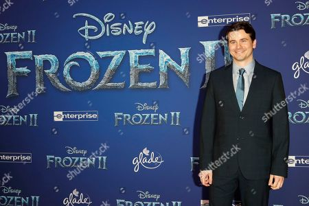 Jason Ritter poses on the red carpet prior to the world premiere of the movie 'Frozen II' at the Dolby Theatre in Hollywood, Los Angeles, California, USA, 07 November 2019. The movie is to be released in US theaters on 22 November 2019.