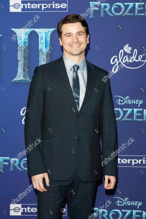Jason Ritter pose on the red carpet prior to the world premiere of the movie 'Frozen II' at the Dolby Theatre in Hollywood, Los Angeles, California, USA, 07 November 2019. The movie is to be released in US theaters on 22 November 2019.