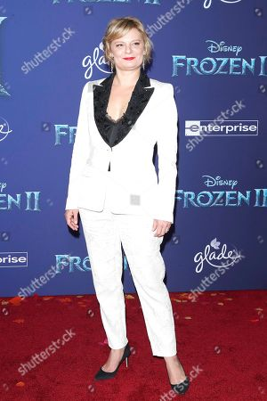 Martha Plimpton poses on the red carpet prior to the world premiere of the movie 'Frozen II' at the Dolby Theatre in Hollywood, Los Angeles, California, USA, 07 November 2019. The movie is to be released in US theaters on 22 November 2019.