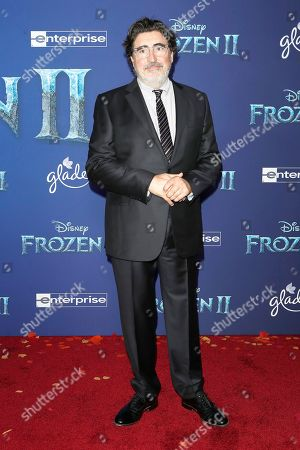 Alfred Molina poses on the red carpet prior to the world premiere of the movie 'Frozen II' at the Dolby Theatre in Hollywood, Los Angeles, California, USA, 07 November 2019. The movie is to be released in US theaters on 22 November 2019.