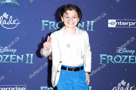 Stock Picture of Raphael Alejandro poses on the red carpet prior to the world premiere of the movie 'Frozen II' at the Dolby Theatre in Hollywood, Los Angeles, California, USA, 07 November 2019. The movie is to be released in US theaters on 22 November 2019.
