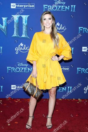 Audrina Patridge poses on the red carpet prior to the world premiere of the movie 'Frozen II' at the Dolby Theatre in Hollywood, Los Angeles, California, USA, 07 November 2019. The movie is to be released in US theaters on 22 November 2019.
