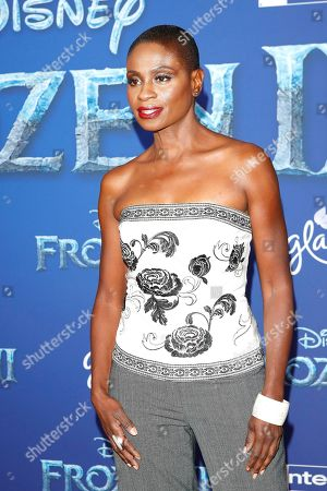 Adina Porter poses on the red carpet prior to the world premiere of the movie 'Frozen II' at the Dolby Theatre in Hollywood, Los Angeles, California, USA, 07 November 2019. The movie is to be released in US theaters on 22 November 2019.
